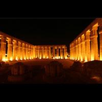 Grande Carte Postale De La Cour D'Aménophis III, Temple De Louxor - 22Ko