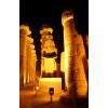 Entrée De La Colanade Avec La Statue De Ramsès II