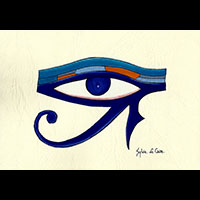Peinture Sur Papier Type Canson : Oeil D'Horus - 30Ko