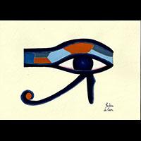 Peinture Sur Papier Type Canson : Oeil D'Horus - 29Ko
