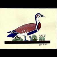 Peinture Sur Papier Type Canson : Oies De Meidoum - 33Ko