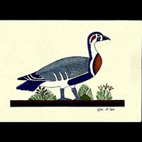 Peinture Sur Papier Type Canson : Oies De Meidoum - 32Ko
