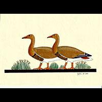 Peinture Sur Papier Type Canson : Oies De Meidoum - 30Ko