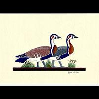 Peinture Sur Papier Type Canson : Oies De Meidoum - 29Ko