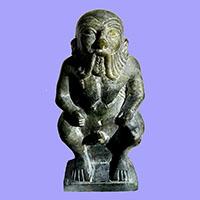 Statue Du Dieu Bes En Stéatite - 30Ko