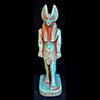 Statue Du Dieu Anubis En Stéatite