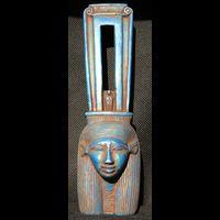 Statuette Tête D'Hathor En Stéatite - 21Ko