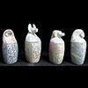 4 Vases Canopes En Steatite