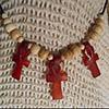 Pendentif Des 3 Amulettes Ankh  En Steatite