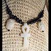 Pendentif Amulette Ankh Et Scarabées En Stéatite