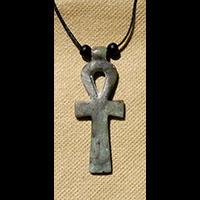 Bijoux Pharaonique Pendentif Amulette Ankh En Stéatite - 39Ko