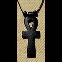 Bijoux Pharaonique Pendentif Amulette Ankh En Stéatite - 38Ko