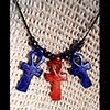 Pendentif De 3 Amulettes Ankh  En Stéatite