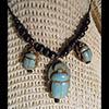 Collier Pendentif Amulette Des 3 Scarabées