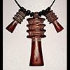 Pendentif Amulette Des 3 Piliers Djed  En Steatite