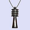 Bijoux Amulette Pilier Djed  En Steatite