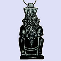 Amulette Du Dieu Bes En Stéatite - 35Ko
