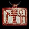 Pendentif Amulette Des 3 Symboles « Ouas, Djed Et Ankh»