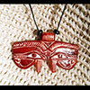 Pendentif Amulette Oeil D'Horus Ocre Rouge