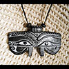 Pendentif Amulette Oeil D'Horus Noire