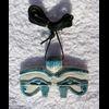 Pendentif Amulette Oeil D'Horus En Stéatite Bleu Turquoise Ceramique