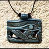 Pendentif Amulette Oeil D'Horus Bleu Pale