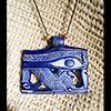 Pendentif Amulette Oeil D'Horus Bleu