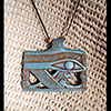 Pendentif Amulette Oeil D'Horus Turquoise