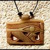 Pendentif Amulette Oeil D'Horus Blanche
