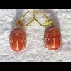 Boucle D'oreille Amulette Scarabée