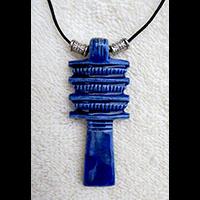 Bijoux Amulette Pilier Djed  En Stéatite