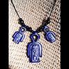 Collier Des 3 Amulettes Noeud D'Isis Ou Noeud Tit