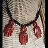 Pendentif Des 3 Amulettes Noeud D'Isis Ou Noeud Tit