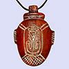 Pendentif En Stéatite Amulette De Coeur Ocre Rouge