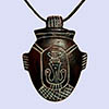 Pendentif En Stéatite Amulette De Coeur Rouge Carmin