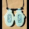 Collier Pendentif Amulette Du Double Coeur
