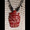 Pendentif Amulette Tête D'Hathor En Stéatite