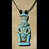 Pendentif Amulette Du Dieu Bès En Stéatite