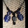 Collier Des 3 Amulettes: Noeud D'Isis Ou Noeud Tit + Pilier Djed + Clé Ankh