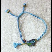 Bijoux Pharaonique Bracelet Oeil D'Horus En Résine, Montage Cuivre Et Pierre, Création Artisanale Lili Lotus Au Caire - 27Ko