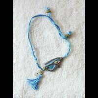 Bijoux Pharaonique Bracelet Oeil D'Horus En Résine, Montage Cuivre Et Pierre, Création Artisanale Lili Lotus Au Caire - 21Ko