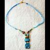 Parure: Bracelet Tête D'Hathor Et Pendentif Tête D'Hathor