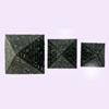 Ensemble De 3 Pyramides En Pierre Reconstitué Noir