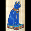 Chat Égyptien : Papyrus Déesse Bastet Bleu