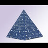 Ensemble De 3 Pyramides En Pierre Reconstitué Bleu