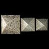 Ensemble De 3 Pyramides En Pierre Reconstitué Blanc